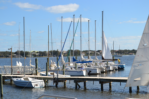 Picture of our keelboat fleet.